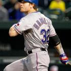 """Josh Hamilton put together only the 16th four-home-run game in major league history when he clubbed four two-run bombs against Baltimore. Hamilton later thanked Orioles' reliever Darren O'Day when he hit what even O'Day described as """"the worst pitch of my career."""""""