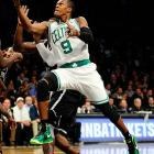 One of the most tenacious defenders in the NBA, Celtics point guard Rajon Rondo will not hesitate to dive for any loose ball. The strategy has helped Rondo average 1.9 steals per game over his career, along with 8.1 assists.