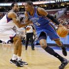 No one was more disappointed to see Andre Iguodala traded to the Nuggets than Kevin Durant, who now has to face Iguodala on a regular basis as a division rival. With his length and quickness, the new Nugget is an ideal defensive matchup for Durant. We'll get a glimpse of what's soon to be the most interesting rivalry in the Northwest when the teams face off on Oct. 21.
