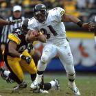 Jamal Lewis ran for 114 yards and a touchdown in 27 carries vs. Pittsburgh to finish the 2003 season with 2,006 yards rushing, second highest at the time in NFL history. The Ravens finished 10-6 to win the AFC North title.