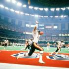 """With a terrorizing defense and an awesome music video called """"Super Bowl Shuffle,"""" the Bears crush the New England Patriots 46-10 in Super Bowl XX. With icons like William """"Refrigerator"""" Perry, Walter Payton and Jim McMahon, the Bears completed one of the best seasons of any team in NFL history."""
