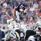 Walter Payton took the field against the New Orleans Saints, needing 67 yards to break Jim Brown's career rushing record. To begin the second half, Payton takes a basic toss sweep and becomes the all-time leading rusher. Head coach Mike Ditka compared Payton with only Jim Thorpe as the best football players to ever live.