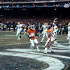 In first of back-to-back AFC championship game losses to Denver, Browns surrender a 98-yard scoring drive in the final minutes before losing 23-20 in overtime on Rick Karlis' 33-yard field goal. Denver quarterback John Elway ties the game with 37 seconds left in regulation on a 5-yard TD pass to Mark Jackson to cap off what will forever be remembered as The Drive.