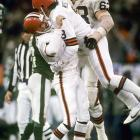 Mark Moseley hits a game-winning field goal to conclude the second longest game in NFL history and the Browns knock off the New York Jets 23-20 to advance to the 1986 AFC Championship Game.