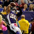 The Minnesota Vikings became the 16th team in the NFL to use the new IR designated-for-return rule when they put cornerback Chris Cook on IR on Oct. 26. Cook, who broke his right arm on Oct. 25 against the Bucs, will be out for at least the next eight weeks. Coach Leslie Frazier said that Cook would only be back in action if the Vikings make the playoffs.