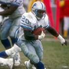 The Lions drafted Barry Sanders, who would become the most the electrifying running back in pro football over 10 seasons in Detroit. Sanders finished his career with 15,269 rushing yards, second to all-time leader Walter Payton,  even though Sanders retired abruptly at age 30.