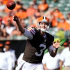 They say throw out the records when the two Ohio teams square off, and that's a great idea for Weeden, who is 0-5 as a starter. However, last week he found Josh Gordon and Jordan Norwood for a combined 11 catches, 163 yards and two touchdowns against the Giants. That would seem to open up two more options than he had when the Bengals and Browns met in Week 2, when Weeden threw for 322 yards and two scores in what was easily his best game as a pro.