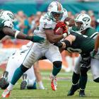 The blueprint this season against the Jets has been to run the ball right into the teeth of the once-vaulted defense, something Miami is well-equipped to do with Reggie Bush, Lamar Miller and Thomas. In the earlier meeting between these two teams, Thomas ran 19 times for 69 yards and the first of his two touchdowns on the season. A repeat performance is certainly a possibility.