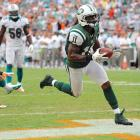 Kerley caught just two balls in the first meeting between these two teams, but he made one of them count to the tune of a 66-yard score. He's one of nine wide receivers to gain at least 50 yards in a game against Miami and one of six men to have caught a touchdown against the Dolphins. And since that first meeting Kerley has been targeted nearly twice as many times as any other Jet (29 times to Chaz Schilens' 15) and has nearly twice as many receptions (17 to 9).