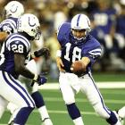 The Colts select Peyton Manning out of Tennessee with the first overall pick of the 1998 NFL Draft. Even on the franchise defined by Johnny Unitas, Manning would establish himself as the most iconic quarterback in franchise history and is considered one of the greatest quarterbacks of all-time.