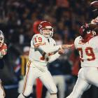 Joe Montana drives the Chiefs 75 yards in nine plays, culminating with a five-yard TD toss to Willie Davis in the final seconds to defeat Denver 31-28 and win his head-to-head dual with John Elway. Elway's four-yard run had put the Broncos in front with 1:29 to play. Montana completes 34 of 54 passes for 393 yards and three TDs.