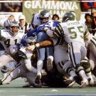 Wilbert Montgomery rushes for 194 yards and a 42-yard TD as the Eagles reach their first Super Bowl with a 20-7 win over the Dallas Cowboys in the 1980 NFC title game. Eagles defense forces four Dallas turnovers and holds Cowboys to 206 yards of total offense as a frozen Veterans Stadium crowd rejoices in 16-degree weather.