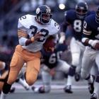 "In a battle of two of the league's top defenses in Super Bowl IX, Pittsburgh's ""Steel Curtain"" outmatched Minnesota's ""Purple People Eaters,"" eventually taking the game 16-6. Franco Harris, who was named the game's MVP after running for 158 yards and a touchdown, paced the offensive side of the ball for the Steelers to garner the franchise's first championship."