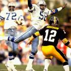 In a battle of dynasties, the Steelers, behind four TD passes from Terry Bradshaw, defeat the Dallas Cowboys 35-31 to become the first three-time Super Bowl winner.