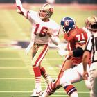 Joe Montana runs for one touchdown and throws for another as 49ers finally claim their first world championship with 26-21 win over Cincinnati. Third-quarter goal-line stands stymies a Bengals rally.