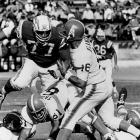 The Houston Oilers won the inaugural AFL championship game, beating the San Diego Chargers 24-16, at Jeppesen Stadium. Quarterback George Blanda passed for 301 yards and three touchdowns, and running back Billy Cannon was named the game's MVP.