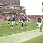 """With only 16 seconds left and the Tennessee Titans trailing Buffalo in a wild-card playoff game in Nashville, Frank Wychek fielded a kickoff and threw an across-the-field lateral to Kevin Dyson, who ran 75 yards for a touchdown, giving Tennessee a 22-16 victory and its first playoff win as the Titans. The play was instantly christened as """"The Music City Miracle."""""""