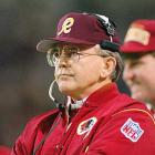 Redskins hire San Diego Chargers offensive coordinator Joe Gibbs, who becomes the most successful head coach in Washington history. During two stints (1981-92, 2004-07), Gibbs leads the Redskins to 184 wins, 11 playoff berths and Super Bowl championships following the 1982, '97 and '91 seasons. Gibbs later becomes a successful NASCAR team owner.