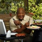 Though he was just the promoter of the George Foreman Grill created by Russell Hobbs Inc., the former champ became the face and soul of the franchise. He accepted the endorsement offer in 1995 after he'd won his second heavyweight title, at age 45, and began emphasizing that the health benefits of eating grilled food had helped him get into championship shape.