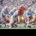 In college football, Southern Cal running back O.J. Simpson led the nation with 1,451 rushing yards and 11 touchdowns. He would beat the mark in 1968 with 1,709 yards on his way to winning the Heisman Trophy.
