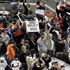 """Chants heard at the Nov. 24 Operation Hat Trick game in Atlantic City to benefit Hurricane Sandy relief efforts:  """"We want hockey!""""  """"Fire Bettman!"""""""