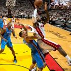 For many, LeBron James needed to win an NBA title before he could be considered among basketball's greats. Well, James did it, putting forward a dominating postseason performance and recording a triple double in Game 5 as the Heat defeated the Oklahoma City Thunder, four games to one.