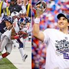 In the matchup between the Giants and Patriots, New York quarterback Eli Manning once again emerged on top. Manning led his team to a fourth-quarter comeback -- highlighted by a 38-yard completion to Mario Manningham -- and won his second Super Bowl MVP award.