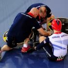 Early on in the men's cycling team sprint, Olympian Philip Hindes saw that he and his Great Britain teammates hadn't gotten off to a good start. Rather than try to stage a comeback, Hindes fell down on purpose, forcing the race to be restarted. Hindes' team went on to win the gold medal.
