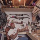 Jackson holds an arrow during a 1995 SI photo shoot.