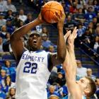 Poythress is an athletic combo-forward who is at his best when he's flying around the basket. He's got long arms and has done a lot to change his body since he's been on the Kentucky campus, adding bulk and strength that should be a welcome addition when battling in the paint.