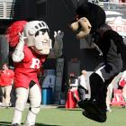 The respective mascots had a frank exchange of views before the Scarlet Knights slayed the Bearcats, 10-3, at Nippert Stadium in Cincinnati.