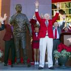 The kick is good and so his statue at Razorback Stadium.
