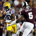 LSU regained its form one week after a crushing last-minute loss to Alabama, topping Mississippi State 37-17. Zach Mettenberger was again sharp for the Tigers, while Jarvis Landry (pictured) posted career highs with nine catches for 109 yards and a touchdown. The Bulldogs, meanwhile, dropped their third game in a row.