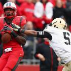 Army held its own until the fourth quarter, but Rutgers scored three touchdowns in the final nine minutes to capture its eighth win of the season. Gary Nova threw for 123 yards and a touchdown, Jawan Jamison carried 22 times for 90 yards and wideout Brandon Coleman (pictured) made two crucial scoring grabs. The Scarlet Knights now look ahead to the teeth of their Big East schedule. They play Cincinnati, Pittsburgh and Louisville to close out the year.