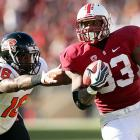 Stanford's late-season quarterback switch paid major dividends this weekend. Filling in for Josh Nunes, redshirt freshman Kevin Hogan completed 22-of-29 attempts for 254 yards and three scores to lead the Cardinal to victory over Oregon State. Star tailback Stepfan Taylor (pictured) amassed 161 all-purpose yards and two touchdowns, and Stanford's defense held the Beavers scoreless in the fourth quarter. Next week brings an even tougher test. Hogan and Co. travel to Eugene for a Pac-12 showdown with Oregon.