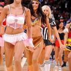 Ladies and gentlemen,  your  Los Angeles Clippers ...dancers.