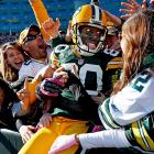 There was obviously something interesting in the stands there at Lambeau Field...
