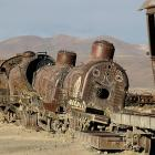 """Not exactly Shining Time Station is it? Don't tell the kiddies, but this is where Sir Topham Hatt sends engines that are no longer useful: Uyuni, south of La Paz, Bolivia """"Toot toot toot, serves you right!"""" said Percy. And now it's time to depart."""