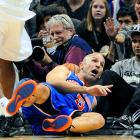 """""""Help! He's fallen and he can't get up,"""" you say? Hold the gratuitous geezer jokes, please, as Jason Kidd and the rest of the graybeard-laden Knicks got off to a flying 6-0 start after beating the Spurs, 104-100, in San Antonio."""