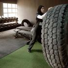 An Olympic weightlifter feeling tired at the Fast Performance Center in Dubai.