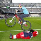 """An interpretive performance of """"The Cycle of Life"""" before the Red Bull Salzburg vs FC Wacker Innsbruck match."""