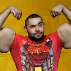Armed and dangerous: According to the Guinness Book of World Records, this Egyptian body builder has the world's biggest biceps and triceps. He's got a pretty mean eyebrow, too.