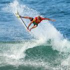 Hawaiian Sebastien Zietz won the Reef Hawaiian Pro on Nov. 24 in Haleiwa, Hawaii.