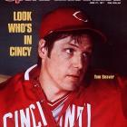 <italics>Details: The Mets traded Tom Seaver to the Reds for Doug Flynn, Steve Henderson, Dan Norman and Pat Zachry.</italics> Immersed in contentious contract negotiations with the Mets, Tom Seaver wanted to make the kind of money that other elite starters were making. The Mets refused to budge. Suddenly, Seaver was shipped to Cincinnati in the middle of June, where he won 14 of 17 decisions and finished the year with 21 wins. Mets fans were devastated at Seaver's departure, as evidenced by lengthy standing ovations in his return to Shea Stadium (in which Seaver struck out 11 and hit a double) and at the 1977 All-Star Game at Yankee Stadium. The Mets finished in last place that season.
