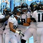 At 0-2 and on the road against AFC South division rival Indianapolis, Jacksonville quarterback Blaine Gabbert hit receiver Cecil Shorts for a short completion that turned into an 80-yard race for the end zone with just 45 seconds remaining to stun the hometown crowd. Running back Maurice Jones-Drew had a breakout performance with 177 yards and a touchdown after holding out for most of the preseason over a contract dispute, helping the Jaguars overcome a 300-plus-yard, two score game by Colts' rookie quarterback Andrew Luck.