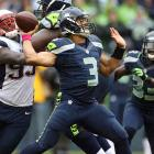 Rookie quarterback Russell Wilson had his best game to date with 293 yards passing and three touchdowns to outplay future Hall of Famer Tom Brady and keep the Seahawks undefeated at CenturyLink Field in Seattle. A 23-10 New England advantage with less than 10 minutes to go would not be enough. A 46-yard Wilson completion to Sidney Rice with 1:18 left in the game was the difference as Seattle stunned the once-thought invincible Pats.