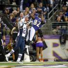 A rematch of the hard-fought 2011 AFC Championship Game won by New England, Ravens' wideout Torrey Smith hauled in six catches for 127 yards and two touchdowns just a day after his younger brother died of a motorcycle accident. In a game that saw six lead changes, Ravens' quarterback Joe Flacco (382 yards, 3 touchdowns) mounted a fourth quarter comeback with four minutes left to avenge the team's final game last season. Rookie kicker Justin Tucker sealed the home with with a 27-yard field goal as time expired.