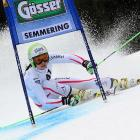 Austria's Anna Fenninger competes in the women's World Cup giant slalom in Semmering, Austria.
