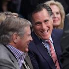 Romney arrived earlier than most of the crowd, taking his seat in time for the opening bout of the pay-per-view undercard.