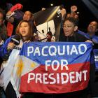 Pacquiao fans turned out in legion for Friday's weigh-ins, though Marquez supporters outnumbered them.
